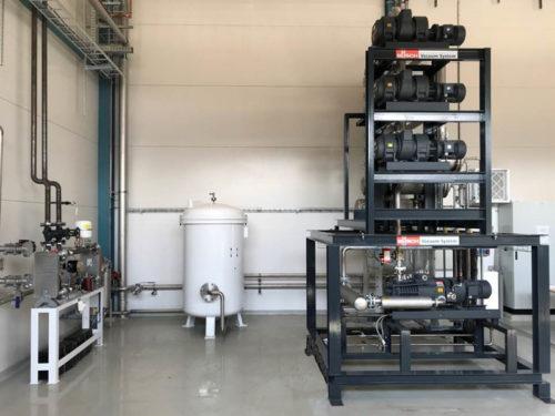 Avgasningssystem för vakuumavgasning av transformatorolja Transorfilter Sweden
