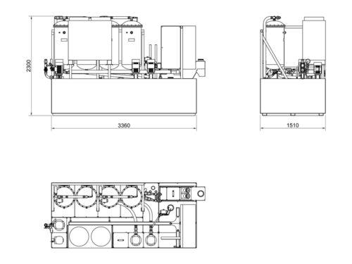 layout filtersystem för skärolja Transorfilter Sweden